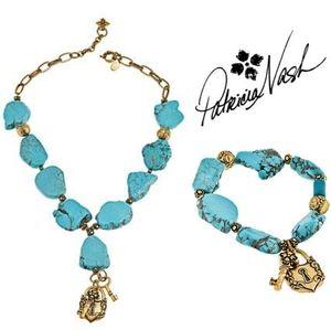 🍀Patricia Nash🍀Lock & Key Turquoise Set